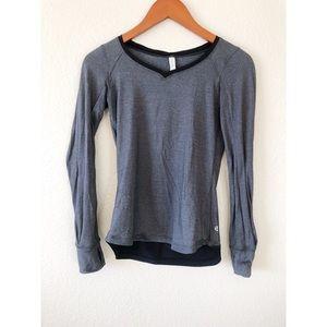 Lululemon black gray long sleeve size X1
